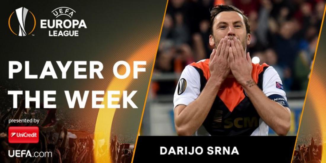 Дарио Срна - лучший игрок недели в Лиге Европы