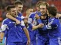 Игроки сборной Фарерских островов шумно отметили победу над греками