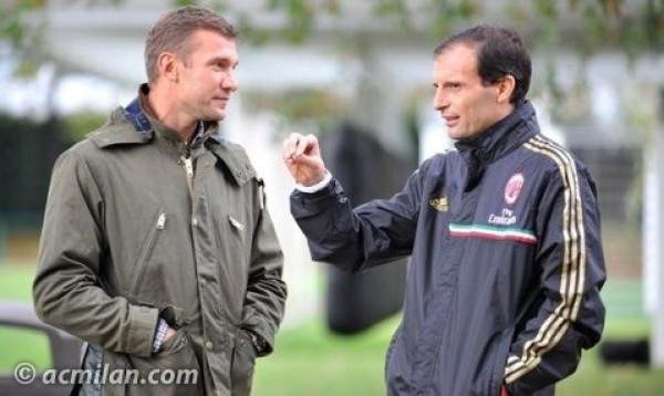 Шевченко посетил тренировочную базу Милана - изображение 1