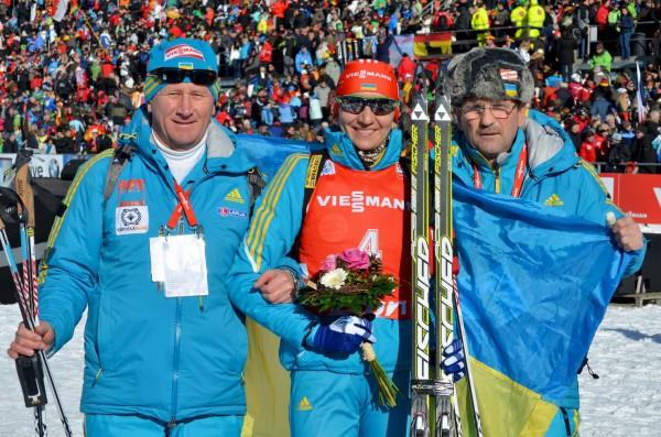 Украинка Елена Пидгрушная завоевала серебро в гонке преследования