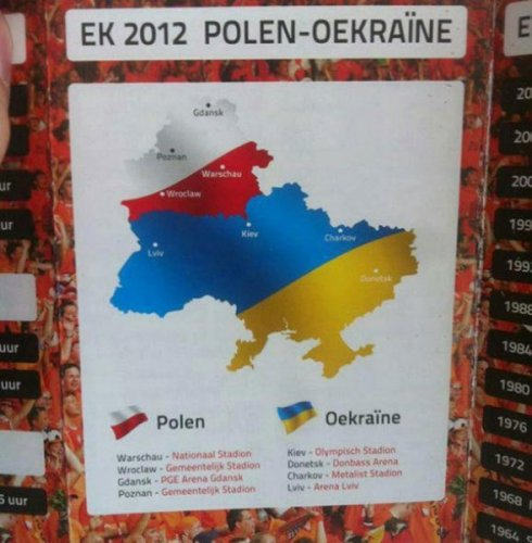 fun map euro 2012 holland