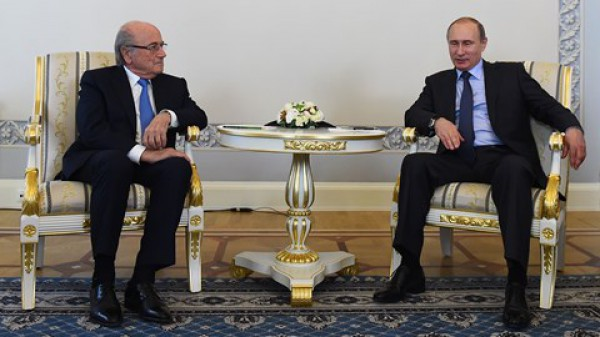 Блаттер и Путин поговорили перед жеребьевкой