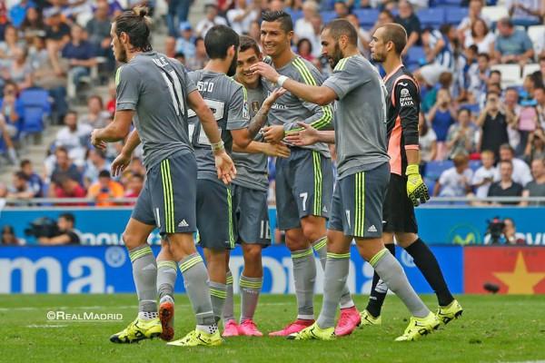 Криштиану Роналду часто праздновал голы в матче с Эспаньолом