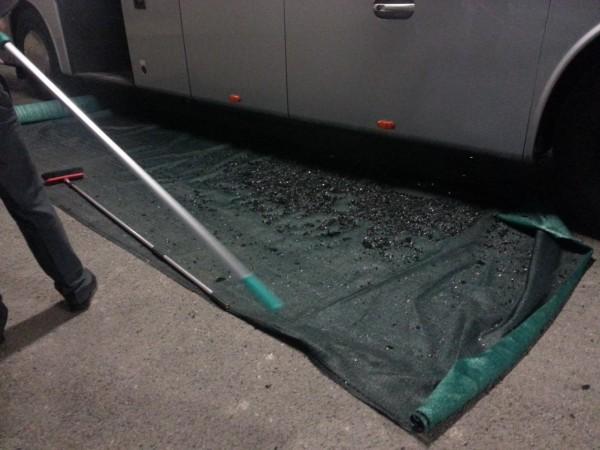 Разбитый автобус ПСЖ