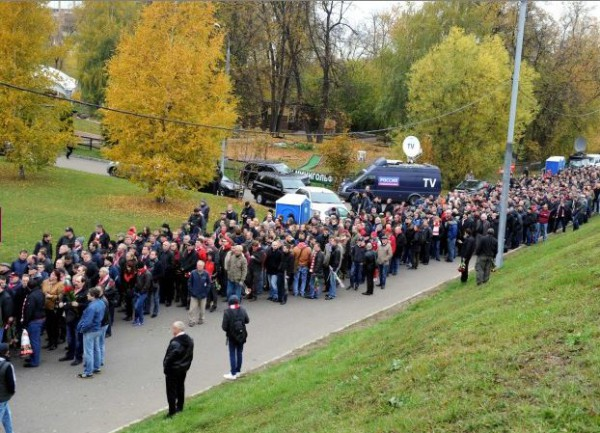 На похороны легенды московского Спартака прошло более 13 тысяч человек (фото)