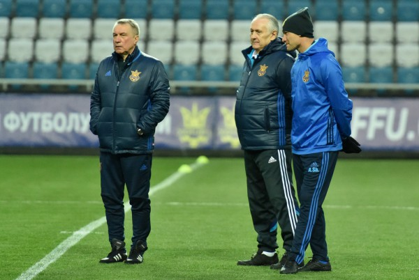 Открытая тренировка сборной Украины на стадионе Черноморец