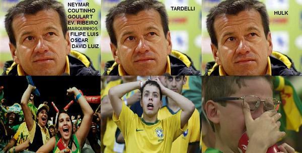 Шуточная реакция фанатов на состав Бразилии