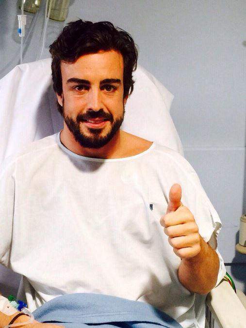 Фернандо Алонсо в клинике после аварии