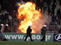 Фанаты Панатинаикоса подожгли стадион в Афинах