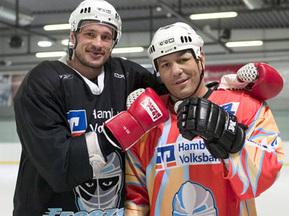 Чагаев попробовал себя в роли хоккеиста