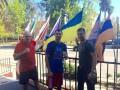 Украинские боксеры поддержали Виктора Постола во время чемпионского боя