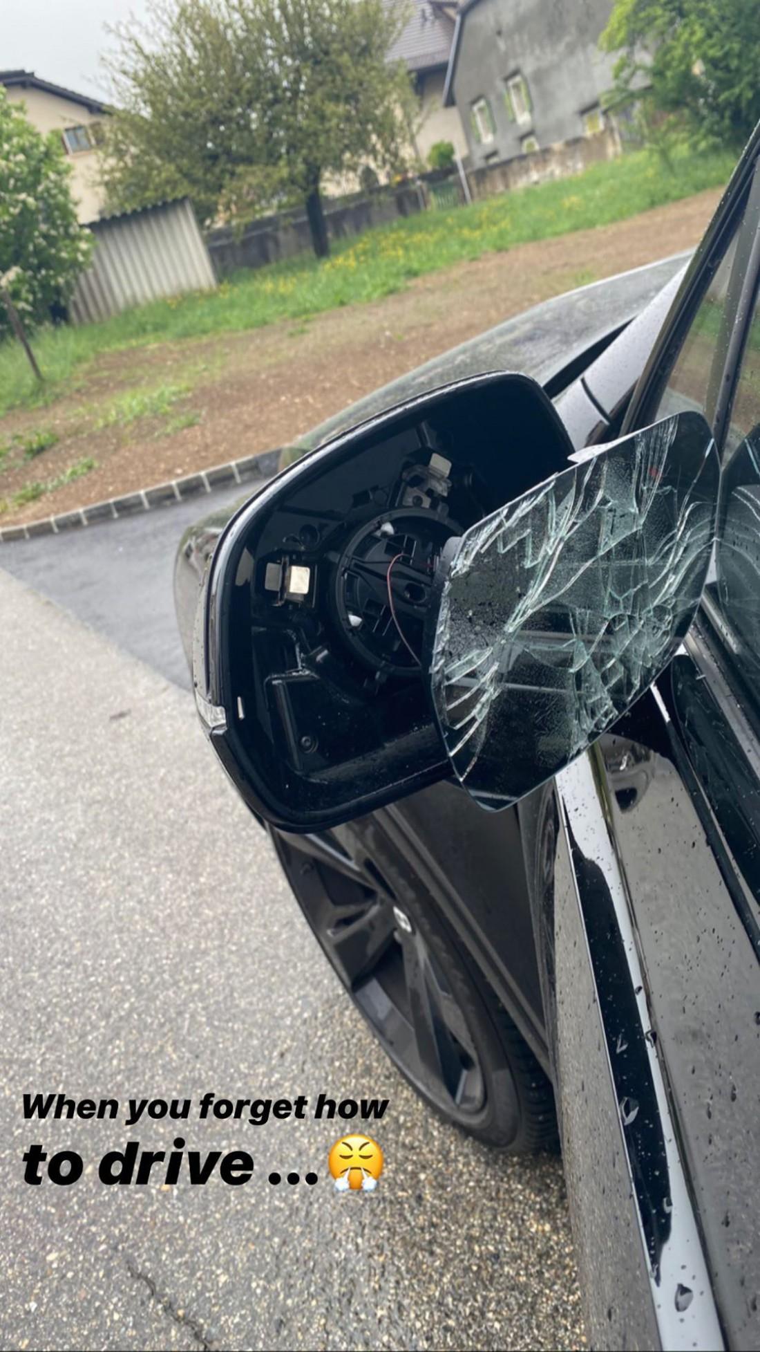 Элина Свитолина повредила автомобиль