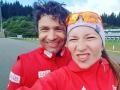 Домрачева и Бьорндален отметили спортивную пенсию на море