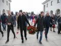 Тимощук и Луческу вышли на шествие с георгиевскими ленточками