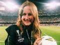 Испанской журналистке прилетел в голову мяч перед матчем Валенсия - Арсенал