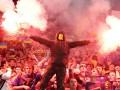 Матч Украина – Македония был остановлен из-за шумовой гранаты