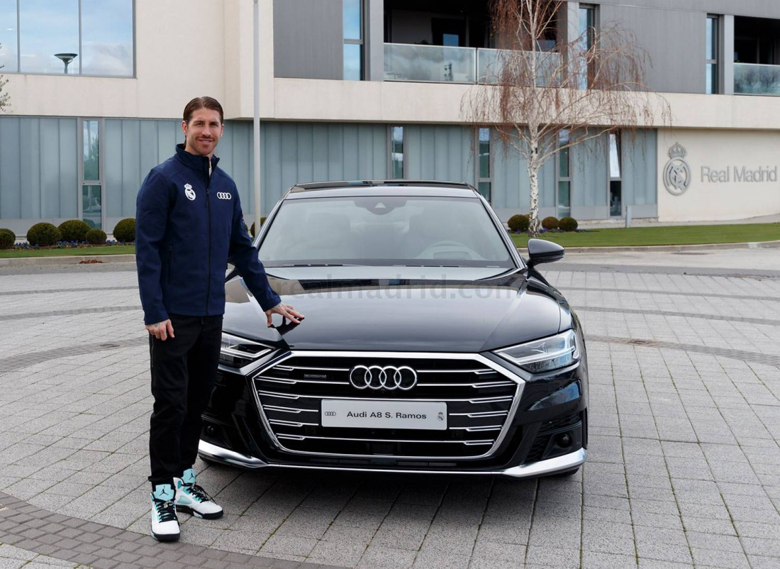Серхио Рамос с новой Audi A8