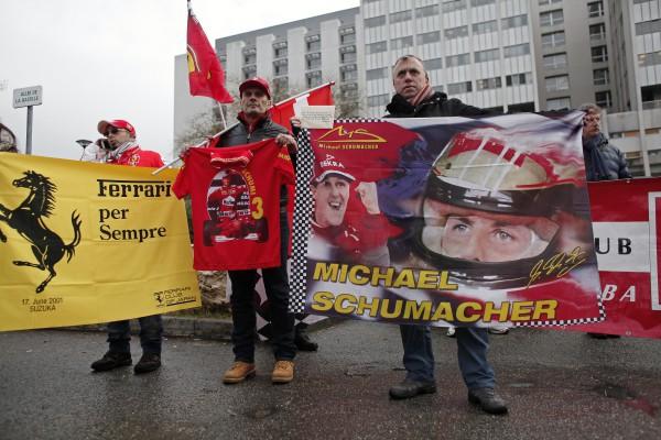Фанаты пришли поддержать Михаэля Шумахера