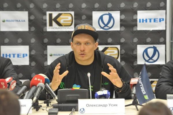 Александр Усик: Мне очень приятно будет боксировать на Арене Львов