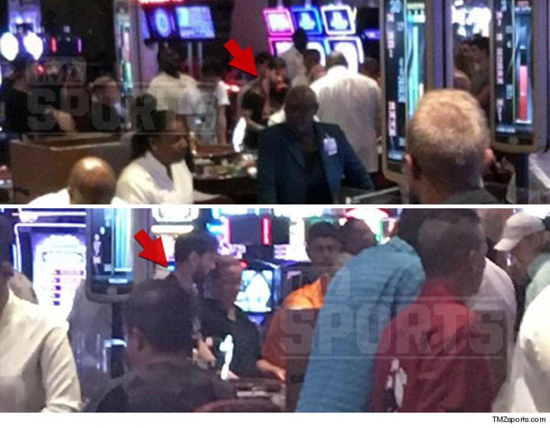 Месси с отцом в казино на Багамах