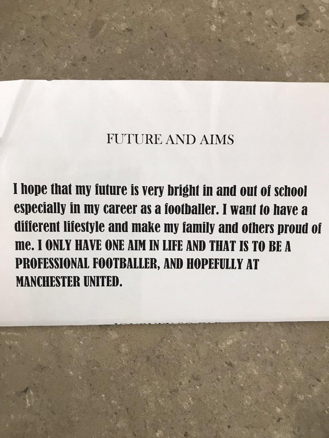 Рашфорд мечтал играть в Манчестер Юнайтед