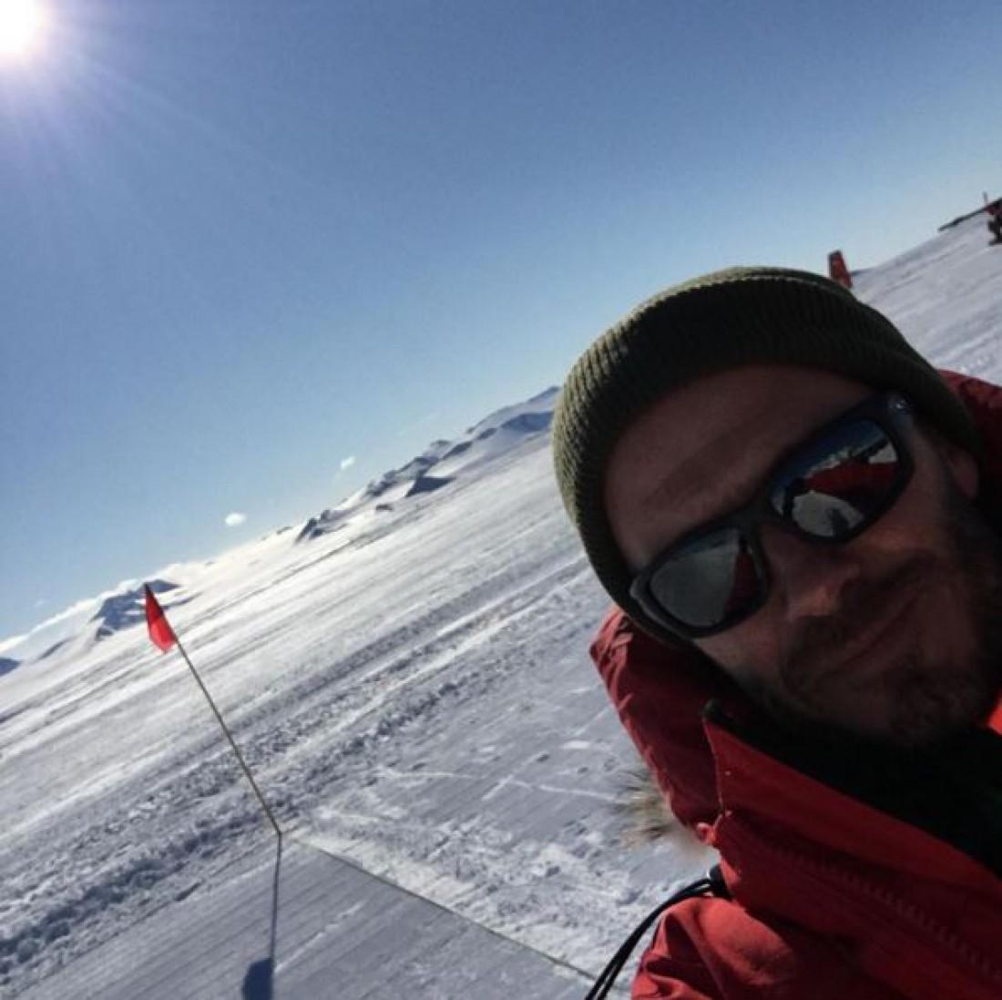 Дэвид Бекхэм в Антарктиде