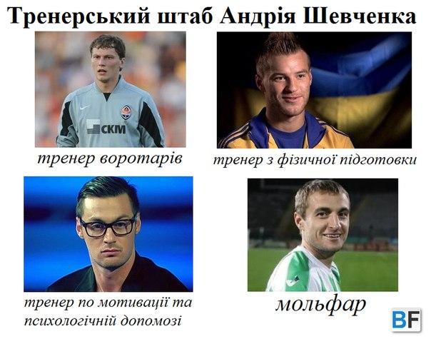 Шевченко определяется с тренерским штабом