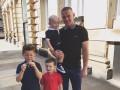 Лидер Манчестер Юнайтед провел свой день с сыновьями