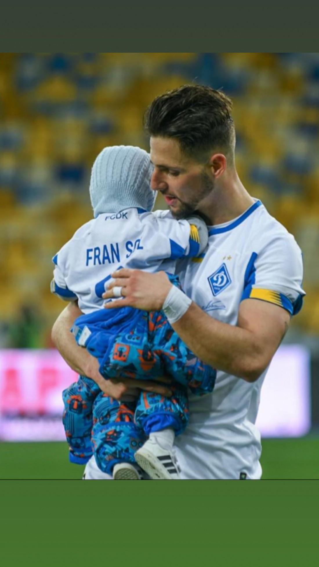 Фран Соль со своим сыном