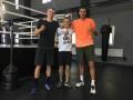 Игроки Динамо провели тренировку в боксерском зале