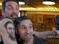 Буффон сделал татуировку с лицом фаната, у которого тату с Буффоном