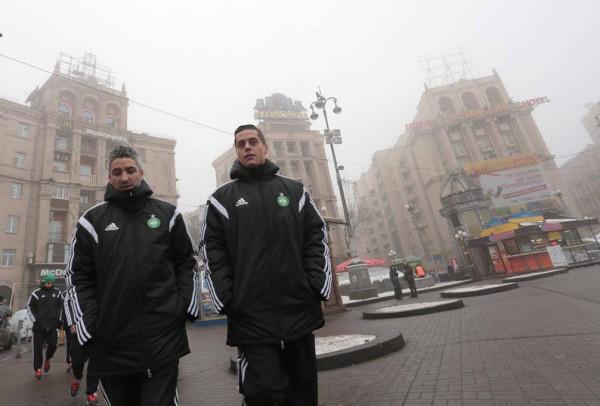 Футболисты Сент-Этьена прогулялись по Майдану