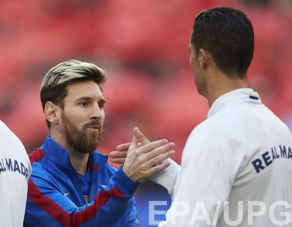 Месси и Роналду пожали перед матче руки