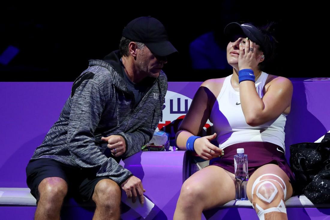 Бьянка Андрееску с тренером