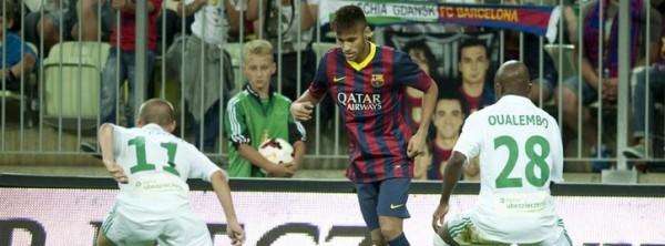 Неймар впервые вышел на поле в футболке Барселоны