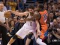 НБА: Оклахома разгромила Кливленд, Хьюстон обыграл Голден Стэйт