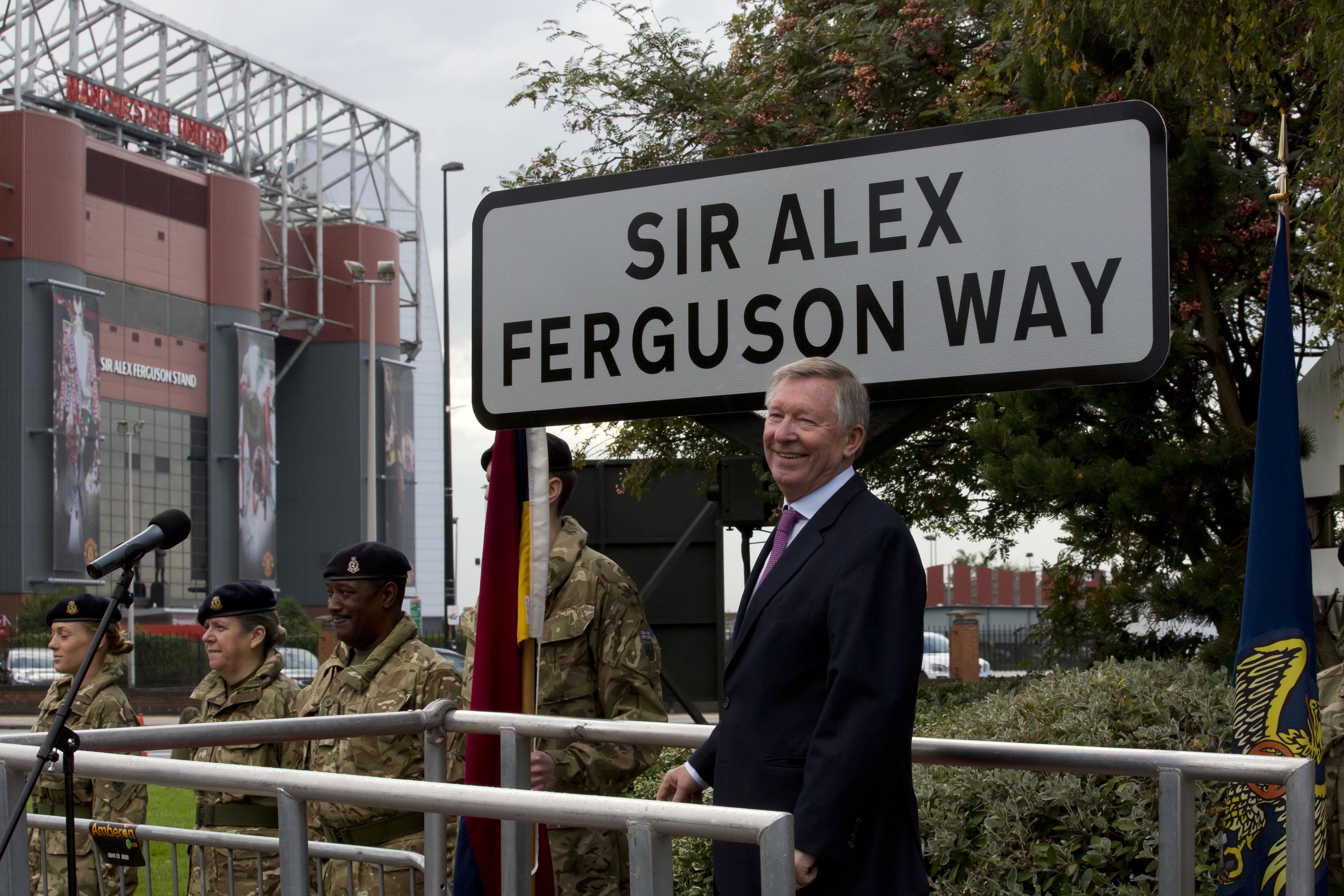 Именем Алекса Фергюсона назвали улицу в Манчестере