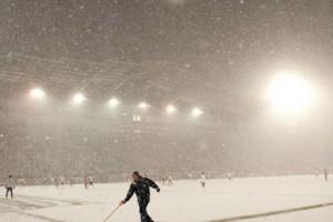Сборным Украины и Молдовы, скорее всего, придется играть под снегом