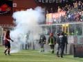 Дженоа проведет два матча без зрителей из-за устроенных фанатами беспорядков на стадионе