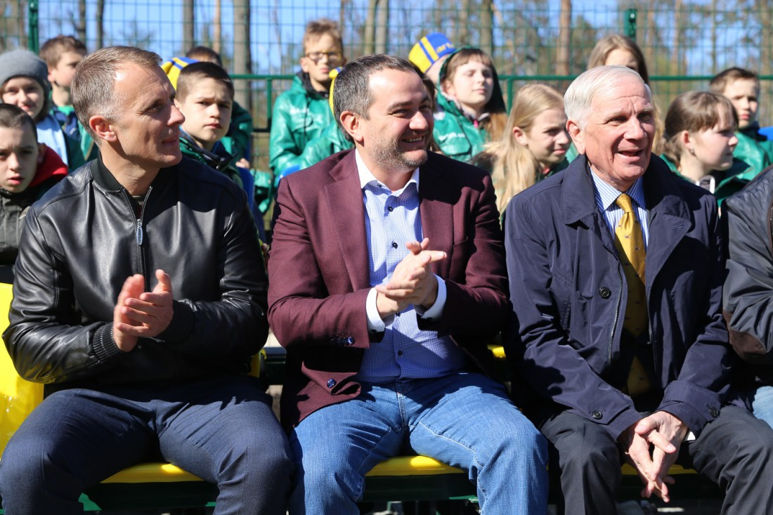 Андрей Павелко (посередине) и Андрей Биба (справа)