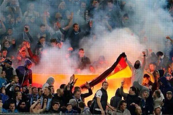 Флаг Германии во время матча