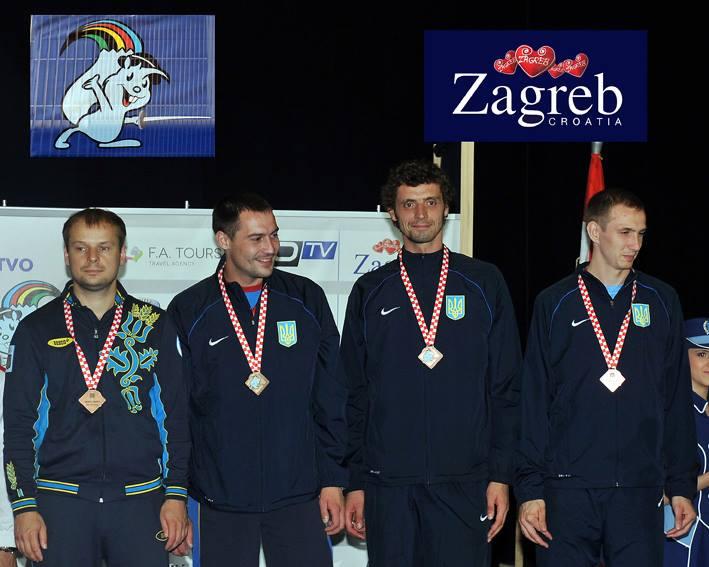 Сборная украинских шпажистов завоевала бронзовую медаль на ЧЕ в Загребе