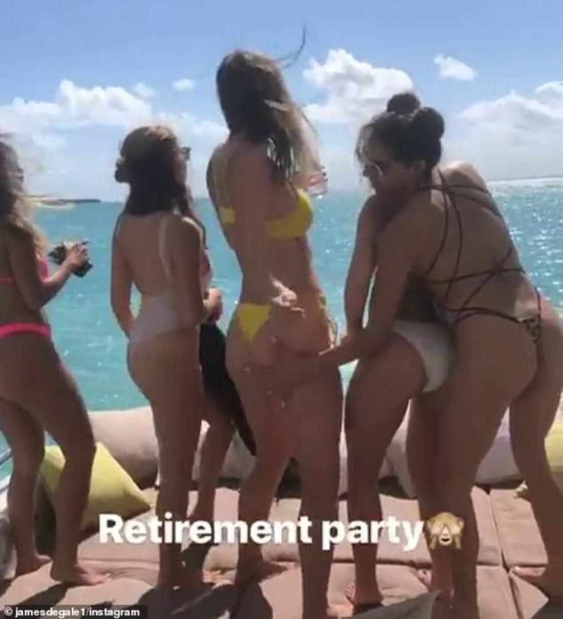 Джеймс Дигейл устроил вечеринку в честь завершения карьеры