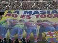 Фанаты Барселоны вывесили огромный баннер против санкций FIFA (ФОТО)