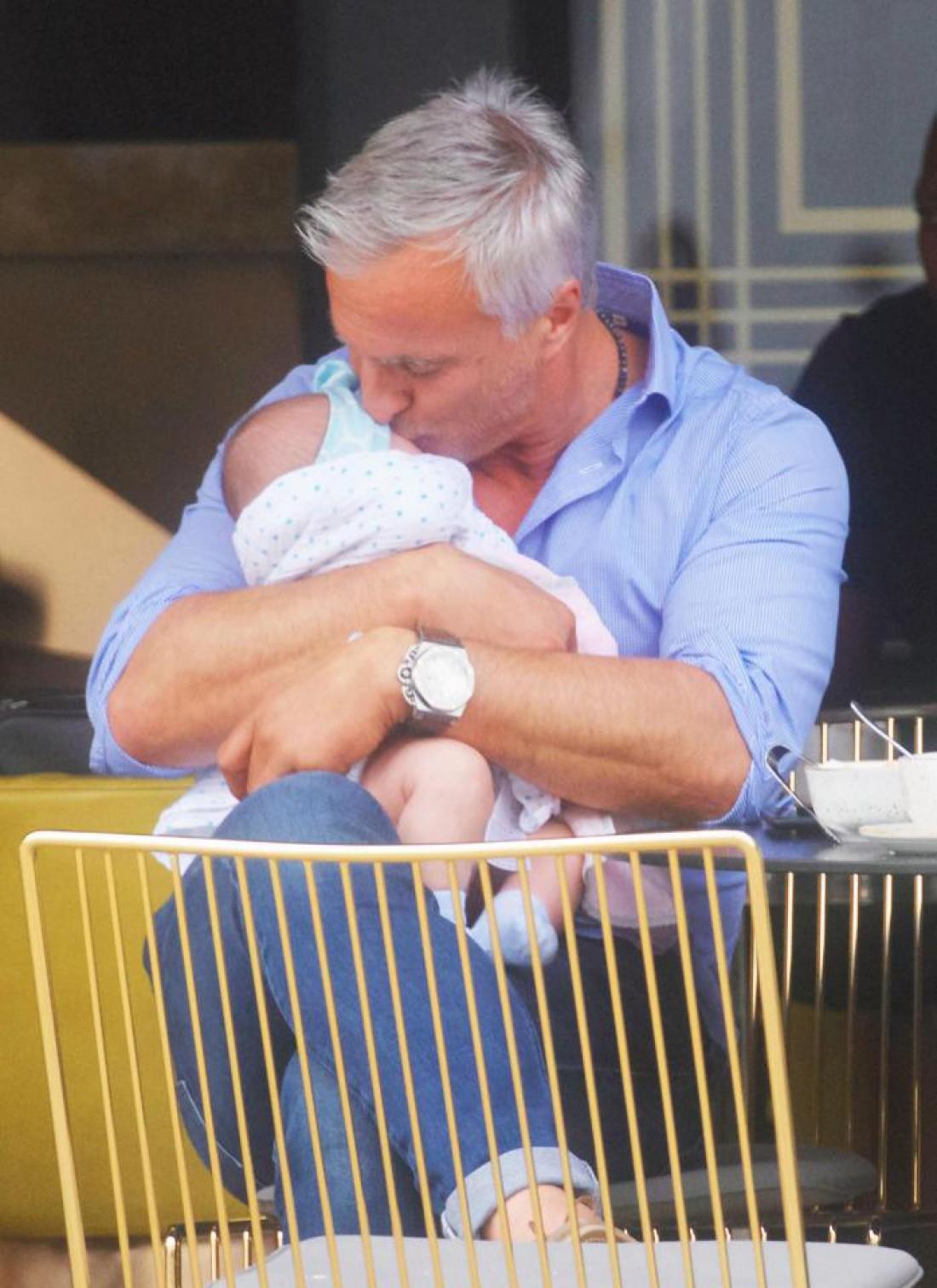 Давид Жинола с дочерью
