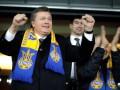 Янукович в раздевалке поздравил футболистов сборной Украины (ВИДЕО)
