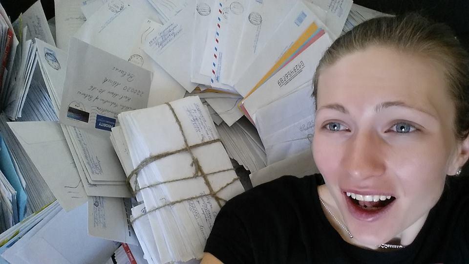 Дарья Домрачева получила тысячи писем от фанатов