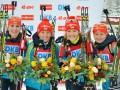 Биатлон: Украинки упустили бронзовую медаль в эстафете в Рупольдинге