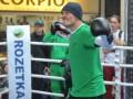 Фотогалерея: Открытая тренировка Александра Усика во Львове
