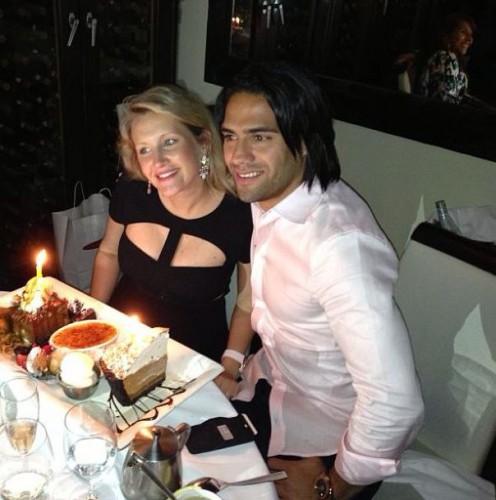 Радамель Фалько с женой